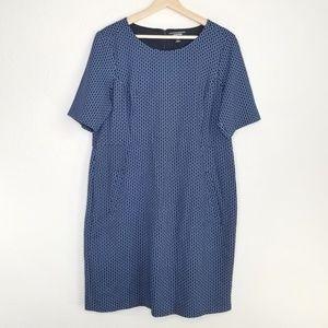 Land's End geo elbow sleeve pointe dress M49